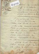 VP9815 - LAGNY -  Acte De 1831 -  Généalogie - Emancipation De Mr DAMAILLE De CHALIFERT - Manuskripte