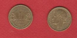 AOF  --  1  Franc 1944  --  état  SUP - Colonies