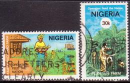 NIGERIA 1978 SG #382-83 Part Set Used Only 5k Missing - Nigeria (1961-...)