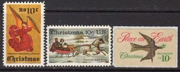 USA 1974 Christmas Set Of 3, MNH (SG 1548/50) - Neufs