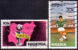 NIGERIA 1980 SG #404-05 Compl.set Used Football - Nigeria (1961-...)