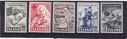 Islande 1949 Cat Yvert N° 215/19 ** - 1944-... Repubblica