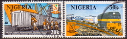 NIGERIA 1980 SG #413-14 Part Set Used Only 10k Missing Railway Corporation - Nigeria (1961-...)