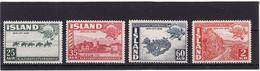 Islande 1949 Cat Yvert N° 220/23** - 1944-... Repubblica