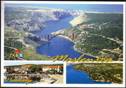 Croatia Starigrad Paklenica 2015 / Maslenica, Posedarje / Old And New Bridge - Kroatien