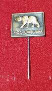 ZOO LJUBLJANA, SLOVENIA, BEAR, ORIGINAL VINTAGE PIN BADGE - Animals