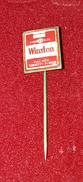 WINSTON, ORIGINAL VINTAGE CIGARETTE PIN BADGE - Around Cigarettes