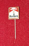 MARLBORO, ORIGINAL VINTAGE CIGARETTE PIN BADGE - Around Cigarettes