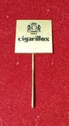CIGARILLOS, ORIGINAL VINTAGE CIGARETTE PIN BADGE - Around Cigarettes