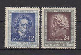 DDR / 125. Todestag Von Ludwig Von Beethoven / MiNr. 300, 301 - DDR