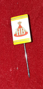 HB, ORIGINAL VINTAGE CIGARETTE PIN BADGE - Around Cigarettes
