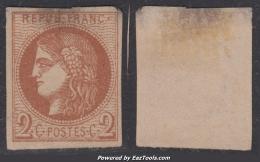 2c Bordeaux Neuf (*)  (Y&T N°40B, Cote Sans Gomme: 200€€) - 1870 Bordeaux Printing