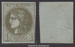 1c Bordeaux Report 1 Neuf * Aspect TB (Y&T N° 39A, Cote 300€ ) - 1870 Emission De Bordeaux