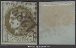 1c Bordeaux Report 3 Oblitéré TB (Y&T N° 39C, Cote 175€ ) - 1870 Bordeaux Printing