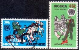 NIGERIA 1981 SG #427-28 Compl.set Used Anti-Apartheid Movement - Nigeria (1961-...)