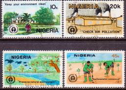 NIGERIA 1982 SG #434-37 Compl.set Used Human Environment - Nigeria (1961-...)