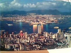 HONG KONG NIGHT SCENE  FROM PEAK  N1990 GC13657 - Cina (Hong Kong)