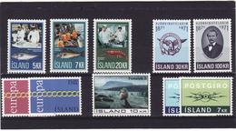 Islande 1971 Cat Yvert Année Complète** - Islande