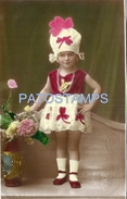 70775 REAL PHOTO COSTUMES CARNIVAL DESGUISE GIRL RARE POSTAL POSTCARD - Unclassified