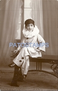 70777 REAL PHOTO COSTUMES CARNIVAL DESGUISE PIERROT POSTAL POSTCARD - Unclassified