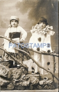 70782 REAL PHOTO COSTUMES CARNIVAL DESGUISE PIERROT & GYPSY POSTAL POSTCARD - Unclassified