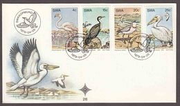 South West Africa SWA (Now Namibia) - 1979 - Water Birds - Complete Set On FDC