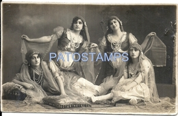 70790 REAL PHOTO COSTUMES CARNIVAL DESGUISE WOMAN'S DANCER POSTAL POSTCARD - Unclassified