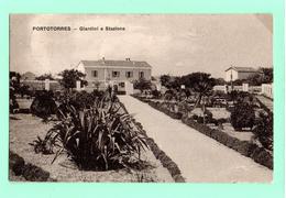 AP149  STAZIONE DI PORTOTORRES - SASSARI  - AMB. TRENO + TONDO RIQUADRATO - FP VIAGGIATA 23.9.1915 - Sassari