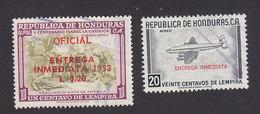 Honduras, Scott #CE1-CE2, Used, Airmail Stamps Overprinted, Issued 1953-56 - Honduras