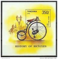 Mua647 TRANSPORT FIETS HISTORY OF BICYCLE FAHRRAD TANZANIA 1992 PF/MNH  VANAF1EURO # - Transportmiddelen