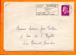 ISERE, Chamrousse, Flamme SCOTEM N° 1943a, 5-18 Fev. 1968 Xe Jeux Olympiques D'hiver - Marcofilie (Brieven)
