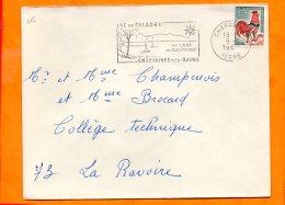 ISERE, Charavines, Flamme SCOTEM N° 415, Lac De Palabru Au Coeur Du Dauphiné - Postmark Collection (Covers)