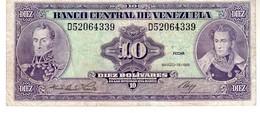 Venezuela P.61a 10 Bolivares 1986 Xf - Venezuela