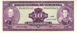 Venezuela P.61d 10 Bolivares 1995 Aunc - Venezuela