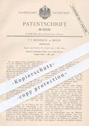 Original Patent - F. T. Hinneburg In Berlin , 1891 , Zahlbrett   Kasse , Kassen , Sparkasse , Bank , Geld , Münzen !!! - Historical Documents