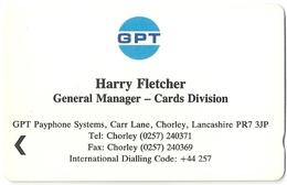 UK - GPT Harry Fletcher Business Card 1£, GPT023 Mercurycard