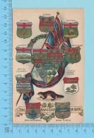 Canada Blasons Shield - Gold & Silver Print, Maple Leaf For Ever, Used 1912, R.F.Gutzman: C=$20.00, Cir:1910 -  2 Scans - Non Classés