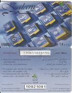 LEBANON - Kalam Prepaid Card 15000LL, CN : 1092, Exp.date 31/12/06, Used