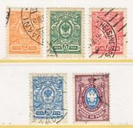 FINLAND 77-81      (o)   1911- 16  Issue - 1856-1917 Russian Government