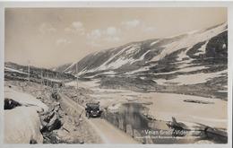 NORWEGEN → Veien Grotli-Videsaeter Mit Oldtimer, Ca.1940 - Norvège