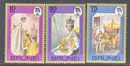 BRUNEI  229-31  **  Q.E. II  CORONATION - Brunei (...-1984)