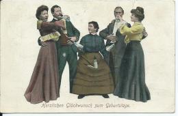 AK 0662  Herzlichen Glückwunsch Zum Geburtstage Um 1908