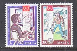 MALTA  588-9  **  I.Y.D.  DISABLED - Handicaps