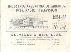 COLECCION DE CATALOGOS DE RADIO Y TV TELEVISION SPECTACULAR PERIODO 1940-1957 UNIQUE EN DELCAMPE ARGENTINA - Old Paper