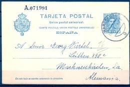 1928 , BARCELONA - ALEMANIA , ENTERO POSTAL E.P. 59 - Stamped Stationery