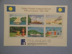 1988  Palau  Yvert  BF 3 **   Bateaux Shipd Scott  196  Michel B3 SG  Xxx Postal Independence - Palau