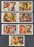 DOMINICA  374-80   **   CHRISTMAS  PAINTING  DURER,  RUBENS  NATIVITY - Dominica (1978-...)