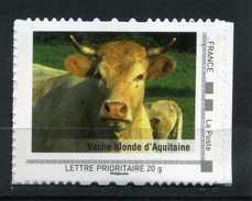 """Vache Blonde D' Aquitaine Adhésif Neuf ** . Collector """" L' Aquitaine """"  2009 - France"""