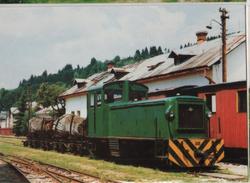 Train Railway Station Bahn Bahnhof Slovakia Cierny Balog Feketebalog Post Card Postkarte Karte 6596 POSTCARD - Trenes