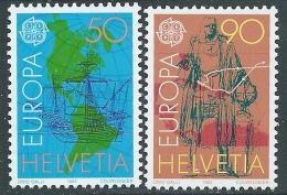 1992 EUROPA AMERICA COLOMBO SVIZZERA MNH ** - B - 1992